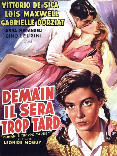 Bích chương quảng cáo: Pier Angeli diễn vai chính trong phim nhưng vì chưa nổi tiếng, tên Nàng nhỏ síu.